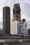 Kaiser Wilhelm Memorial Church, Berlijn, Duitsland Stock Afbeeldingen