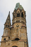 The Kaiser Wilhelm Memorial Church in Berlin Stock Photo