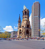 Kaiser Wilhelm Memorial in Kurfurstendamm stock image