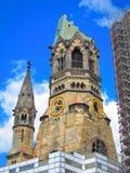 Kaiser Wilhelm Pamiątkowy kościół, Berliński Niemcy Zdjęcia Royalty Free