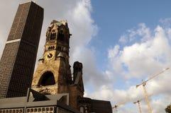 Kaiser Wilhelm Pamiątkowy kościół w Berlin, Germany zdjęcie royalty free