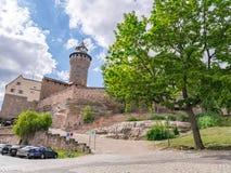 Kaiserburg slott, Nurnberg, Tyskland Royaltyfria Foton