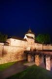 Kaiserburg wall and bridge at night in  Nuremberg Stock Images
