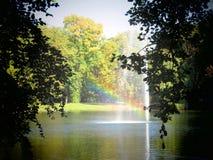Kaisergarten Germany Autumn Nature trees. Rainbow lake Lovely autumn impressions Royalty Free Stock Photo