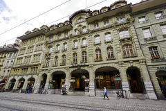Kaiserhaus at the Marktgasse in Bern. BERN, SWITZERLAND - SEPTEMBER 11, 2015: Kaiserhaus at the Marktgasse, It shows the beauty of imperial architecture with Stock Photo