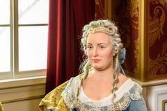 Kaiserin Maria Theresia figurka Przy Madame Tussauds Nawoskujący Muzeum Obraz Royalty Free