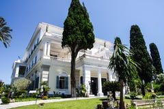 Kaiserin Sisi-Palast Korfu Griechenland Lizenzfreies Stockfoto