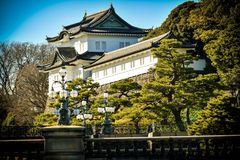 Kaiserpalast Tokyo-Garten stockfotos