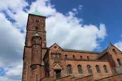 Kaiserplatz的,亚琛Adalbert教会 库存图片