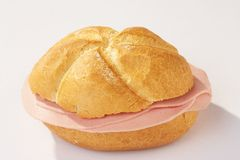 Free Kaiserroll With A Sausage - Wurstsemmel Royalty Free Stock Photography - 472547