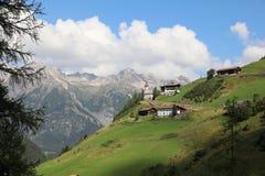 Kaisers in Lech Valley tirol l'austria Fotografia Stock