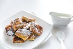 Kaiserschmarrn - pancake austriaci popolari Fotografia Stock