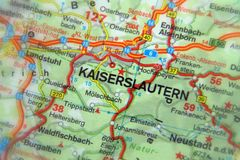 Kaiserslautern. Rhineland-Palatinate,  Germany. Royalty Free Stock Photo