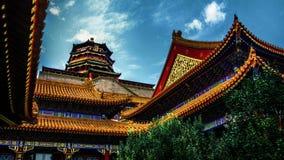 Kaisersommerpalast-Peking-Porzellan stockfoto