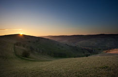 Kaiserstuhl at sunset Royalty Free Stock Photo