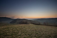 Kaiserstuhl at sunset Royalty Free Stock Image