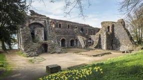 kaiserswerth duesseldorf de ruïne van Duitsland stock fotografie