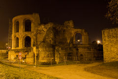 Kaisertherme Trier in germany at night Royalty Free Stock Images