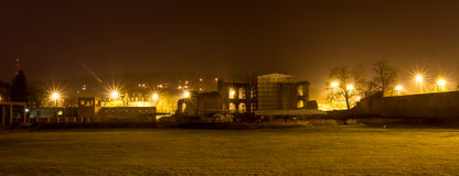 Kaisertherme Trier in germany at night Royalty Free Stock Image