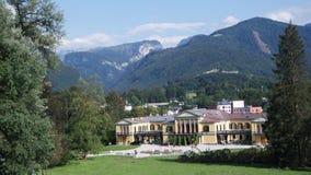 Kaiservilla in Slechte Ischl was aardige de zomerwoonplaats van Keizer Franz Joseph en Keizerin Sisi Elizabeth in Oostenrijk royalty-vrije stock foto's