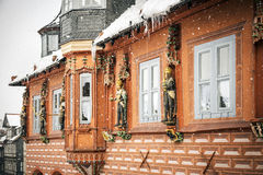 Kaiswerworth in Goslar, Germany. With snow fall in winter Stock Images