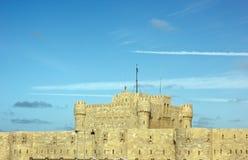 Kait海湾城堡在亚历山大 免版税库存照片