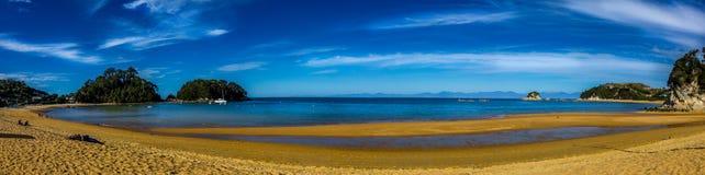 Kaiteriteri海滩Panarama 免版税库存照片