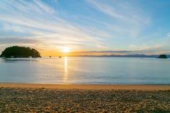 Kaiterteristrand Tasman Nieuw Zeeland stock afbeelding
