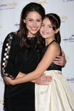 Kaitlin Riley, Baillee Madison arrives at  the Hallmark Channel TCA Party Winter 2012 Royalty Free Stock Images