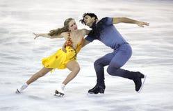 Kaitlyn Weaver y Andrew Poje de Canadá Fotografía de archivo