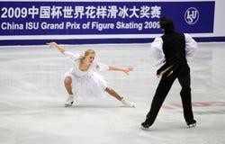 Kaitlyn Weber und Andrew Poje (KÖNNEN Sie) Lizenzfreies Stockfoto