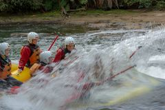 Whitewater rafting on the Kaituna River royalty free stock images