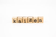 Kaizen wording isolate on white background Stock Photos