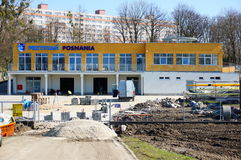 Kajak club building construction Stock Photos