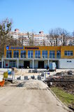 Kajak club building construction Stock Photo