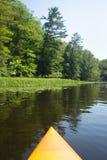 Kajak del río Fotos de archivo libres de regalías