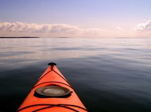 Kajak di tramonto fotografia stock