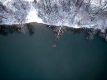 Kajak en invierno Fotografía de archivo libre de regalías