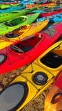 Kajak-Farben Stockbilder