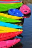 Kajak in fiume fotografie stock