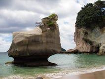 Kajak-@ Kathedralen-Bucht, Coromandel, Neuseeland Lizenzfreie Stockfotos