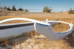 Kajak na piaskowatych brzeg Fotografia Stock