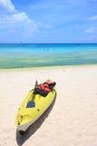 Kajak na plaży Fotografia Stock