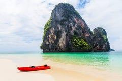 Kajak na Railay plaży, Tajlandia Fotografia Royalty Free