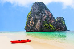 Kajak na Railay plaży, Tajlandia Fotografia Stock