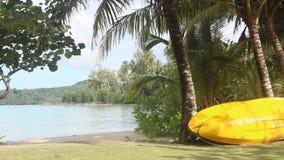 Kajak na seashore zdjęcie wideo