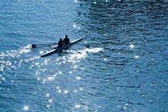 Kajak nel mare Fotografie Stock