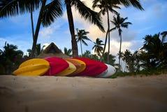 Kajak nel paradiso fotografie stock libere da diritti