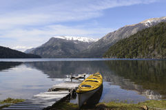 Kajak nella Patagonia fotografia stock