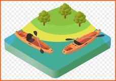 Kajak łodzi wektor Zdjęcia Royalty Free